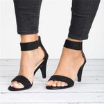 With High Heels Strap Female Thin Mujer Drop Sandals