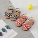 Bow lattice Flat Heel For Girls Princess Casual Sneakers Sandals
