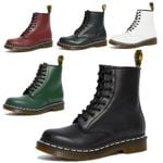 Genuine Leather Ankle Martin Casual Motorcycle Boots