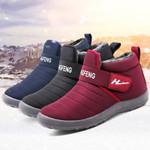 Plush Waterproof Rubber Mid-calf Boots