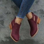 Fashion Casual Martins Suede Leather Buckle Boots
