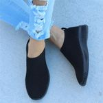 Knitted Vulcanized Casual Slip On Flat Mesh Trainers Sneakers & Shoes