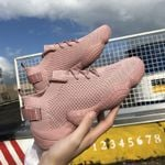Vulcanized Lace-Up Solid Flat Platform Knited Wedges Sneakers & Shoes