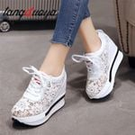 Platform wedge high heel casual mesh Breathable Sneakers & Shoes