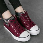 Vulcanized Fashion Canvas Trainers Basket Casual Sneakers & Shoes