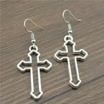 Fashion Handmade Simple Design Cross Charms Drop Earrings