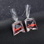 Kawaii Cartoon Earrings Resin Goldfish Imitation Water Earrings