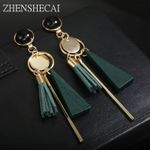 New Design Bohemia style Plastic long Tassel jewelry Earrings