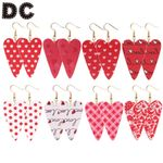 New Arrival Creative Love Leather Five Red Styles Fashion Jewelry Earrings