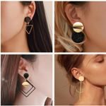Statement Acrylic Drop Fashion Jewelry Vintage Geometric Earrings
