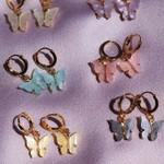 New Fashion Butterfly Drop Sweet Acrylic Statement Earrings