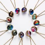Unique Luminous Universe Galaxy Planet Glass Vintage Jewelry Necklaces
