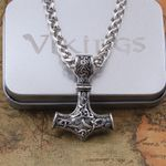 Pendant viking scandinavian norse with stainless steel Necklaces