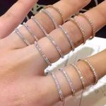 Simple Eternity Band silver Band Statement Party Jewelry Rings