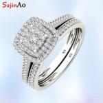 Engagement Diamond With Paved Micro Luxury Platinum Rings