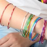 Colorful Indian Dance Aluminium Wire Cuff Jewelry Bracelets & Bangles