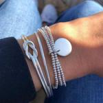 Silver Bohemian Geometry Set Vintage Multilayer Charm Bracelets & Bangles