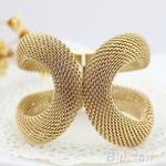 Fashion Elegent Alloy Wide Spring Cuff Costume Bracelets & Bangles