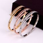 Personality Hollow Three-layer Zirconia Bracelets & Bangles