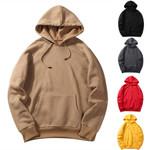 Fashion Spring Casual Sweatshirts Solid Color Hoodies