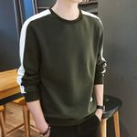 Long Sleeve Sweatshirt Solid Color Army Green Sweatshirt Hoodies