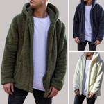 Fluffy Fleece Jacket Hooded Coat Outerwear Sleeve Sweatshirts