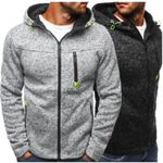 Sports Casual Wear Zipper Fashion Tide Jacquard Fleece Sweatshirts