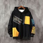 Patchwork color block Contrast Color Stitching Long Sleeve Sweatshirts