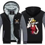 One Piece Anime Zoro Luffy Luminous Thick Zipper Sweatshirts