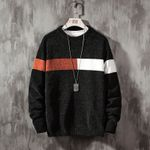 New Sweater Long Sleeves Pullover Knitted O-Neck Sweatshirts