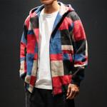 Plaid Bomber Clothes Woolen Plaid Coat Streetwear Jackets