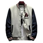 New Arrival Hot Single Breasted Patchwork Casual Baseball Jackets