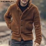 Fleece Coats Streetwear Long Sleeve Solid Lapel Outerwear Jackets
