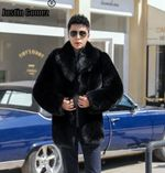Hot Promotion Warm Cut Wind Clothing Thick Black High-end Jackets