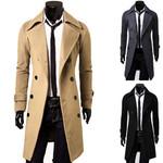 Fashion Trench Jacket Stylish Double Breasted Peacoat Coats
