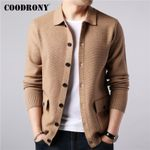 Brand Sweater Streetwear Fashion Warm Cashmere Cardigan Coats