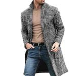 Casual Fashion Warm Long-sleeved Houndstooth Gentleman Coats