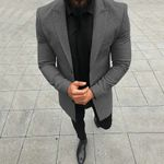 Business Working Solid Color Long-sleeved Blends Gentleman Coats