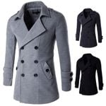 Wool Blends New Solid Color High Quality Luxurious Coats