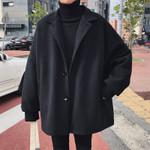 Fashion Tide Turn-down Collar Bat Sleeve Loose Casual Coats