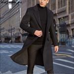 Warm Fake Wool Plain Long Sleeve Faux Fleece Streetwear Coats