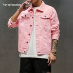Ripped Hip Hop Streetwear Holes Casual Fashion Distressed Solid Denim Jackets