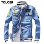 Bomber High Quality Cowboy Chaqueta Hombre Denim Jackets
