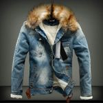 Light Outerwear Warm Coats Wool Liner Thicker Denim Jackets