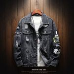 Holes New Fashion Loose Casual Outwear Denim Jackets
