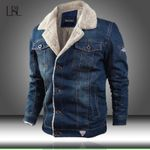 Trendy Warm Fleece Thick Fashion Outwear Cowboy Denim Jackets