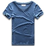 Collar Modal Cotton Slim Fit Sleeve Invisible Undershirt T Shirt