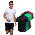 Homme Designer Quick Dry Running Slim Fit Muscle T Shirt
