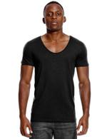 Scoop Neck Cut Deep Invisible Undershirt Slim Fit T Shirt