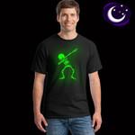 Hip Hop Fluorescent Dabbing Skeleton Punk Funny Skull T Shirts